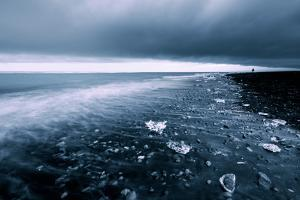 Swept Away, Black Sand Beach, Glacier Lagoon Iceland by Vincent James