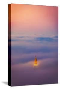 Temple of the Fog Mormon Temple Oakland Sunrise Color Peace Love California by Vincent James