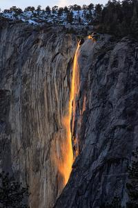 The Fire Falls, Yosemite Horsetail Falls, Firefall, Yosemite National Park by Vincent James
