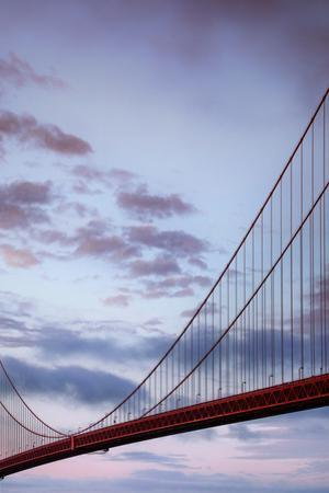 The Road Across Abstract Bridge Golden Gate Clouds by Vincent James