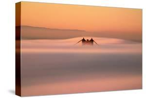 Tower Peek, Golden Gate Bridge Fog San Francisco Bay by Vincent James