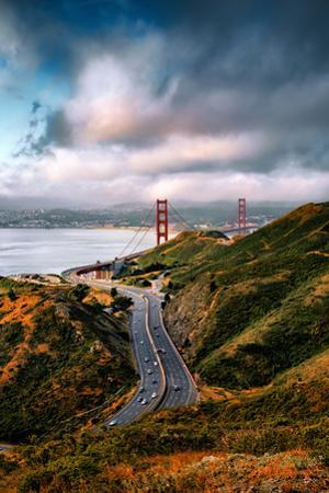 Unique Perspective Golden Gate North Clouds Over San Francisco Marin by Vincent James