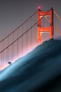 Verge Unique Fog Flow Hillside Golden Gate Marin Headlands by Vincent James