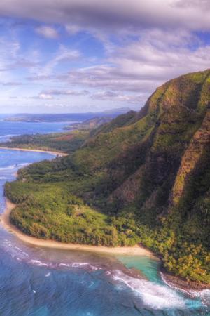 View of Hanalei from Na Pali Coast, Kauai Hawaii by Vincent James