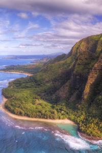View of Hanalei from Na Pali Coast, Kauai Hawaii by Vincent James