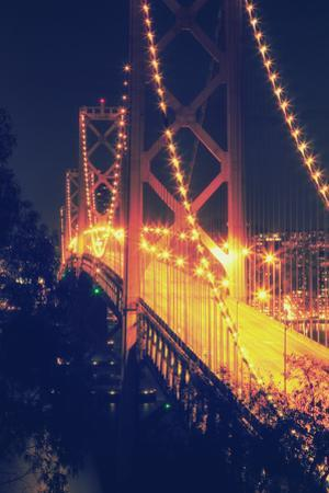Vintage Bay Bridge Scene by Vincent James