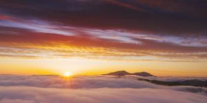 Visual Landscape Epic Sunset, Mount Diablo, California by Vincent James