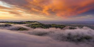 Visual Landscape Magical Sunset Clouds, East Bay, California by Vincent James