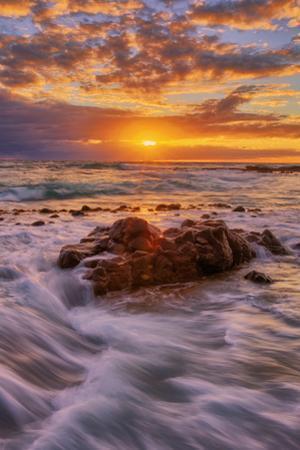 Warm East Kauai Sunrise Seascape, Hawaii Islands by Vincent James