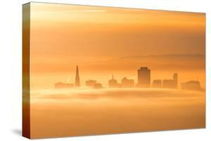 Warm Fog Flow & Cityscape Abstract, San Francisco by Vincent James
