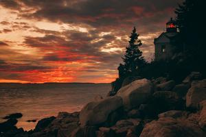 Warm Light at Bass Harbor, Acadia National Park, Maine by Vincent James
