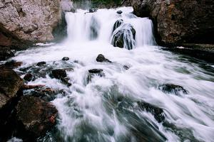 Water Flow at Firehole Falls, Yellowstone National Park by Vincent James