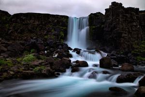 Waterfall Mood, Landscape Öxarárfoss, Iceland by Vincent James
