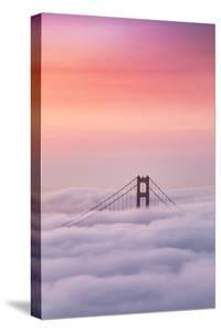 Watermelon Sky Above The Fog at Golden Gate San Francisco Bay by Vincent James