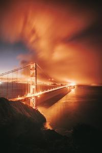 Wild Clouds and Light at Golden Gate Bridge San Francisco by Vincent James
