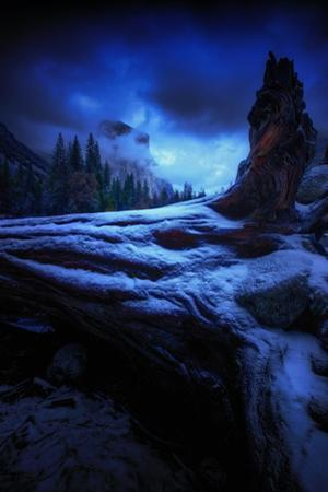 Winter Blue Valley View Yosemite National Park Merced River by Vincent James