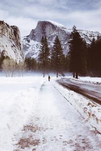 Winter Walk, Half Dome, Yosemite National Park by Vincent James