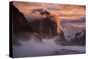 Yosemite Valley Light Fog Storm Blustery Tunnel National Park Winter by Vincent James