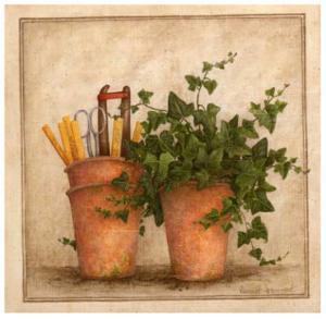 Lierre et Pots II by Vincent Jeannerot