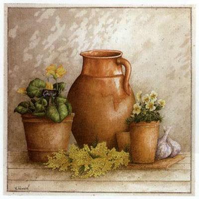 Cruche et Pot de Courge