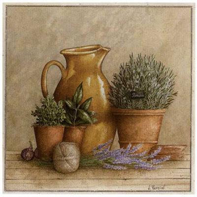 Cruche et Pot de Romarin