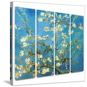 Almond Blossom 4 piece gallery-wrapped canvas by Vincent van Gogh