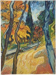 Arbres dans le jardin de l'asile, 1889 by Vincent Van Gogh