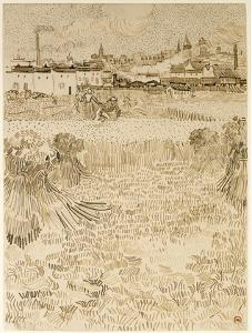 Arles: View from the Wheatfields by Vincent van Gogh
