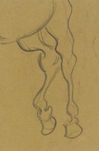 Arrière train d'un cheval by Vincent van Gogh