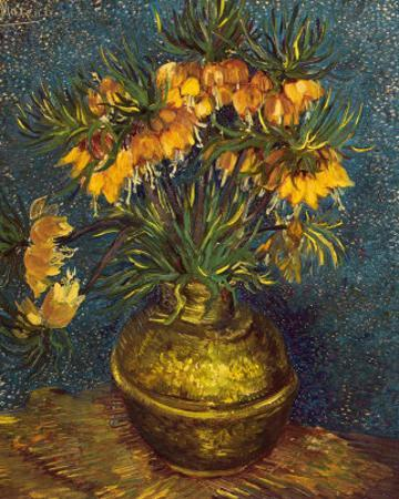 Bell Lilies in a Copper Vase by Vincent van Gogh