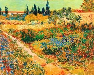 Bluhender Garten mit Pfad by Vincent van Gogh