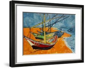 Boats by Vincent van Gogh