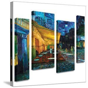 Café Terrace at Night 4 piece gallery-wrapped canvas by Vincent van Gogh