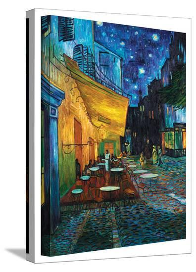 Vincent van Gogh 'Cafe Terrace at Night' Wrapped Canvas-Vincent van Gogh-Gallery Wrapped Canvas