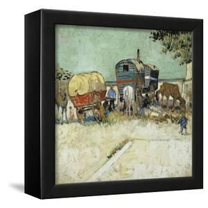 Caravans Encampment of Gypsies by Vincent van Gogh