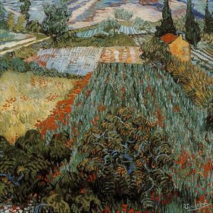 Champs aux coquelicots (Détail) by Vincent van Gogh