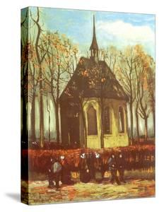 Chapel and Churchgoers, 1884 by Vincent van Gogh
