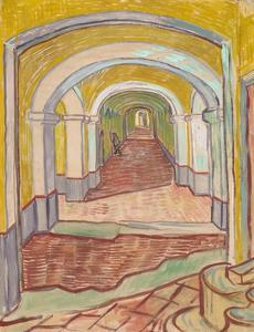 Corridor in the Asylum (St. Rémy) by Vincent van Gogh