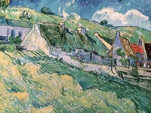 Cottages at Auvers-Sur-Oise, c.1890 by Vincent van Gogh