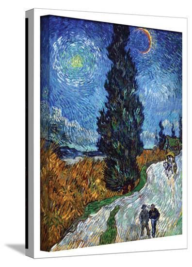 Vincent van Gogh 'Country Road in Provence by Night' Gallery Wrapped Canvas-Vincent van Gogh-Gallery Wrapped Canvas