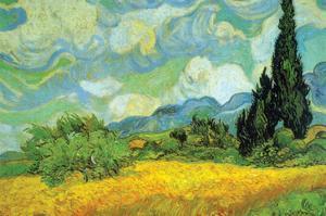 Cypresses by Vincent van Gogh