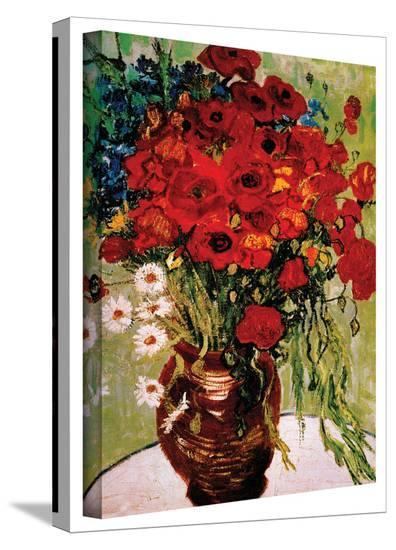 Vincent van Gogh 'Daises and Poppies' Wrapped Canvas-Vincent van Gogh-Gallery Wrapped Canvas