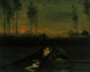 Evening Landscape II by Vincent van Gogh