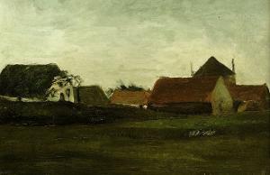 Evening Landscape by Vincent van Gogh