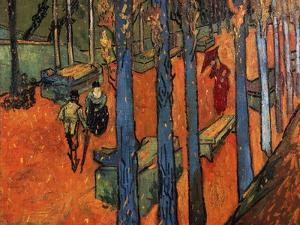 Falling Autumn Leaves, 1888 by Vincent van Gogh