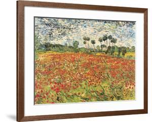Field of Poppies, Auvers-Sur-Oise, c.1890 by Vincent van Gogh