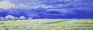 Field under a Stormy Sky by Vincent van Gogh