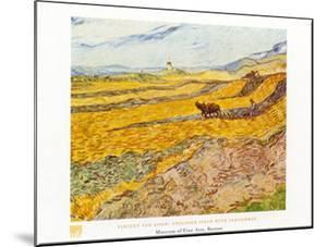 Field with Ploughman by Vincent van Gogh