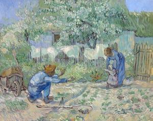 First Steps, after Millet by Vincent van Gogh