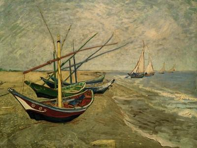 Fishing Boats on the Beach at Saintes-Marie-de-la-Mer, around June 5, 1888